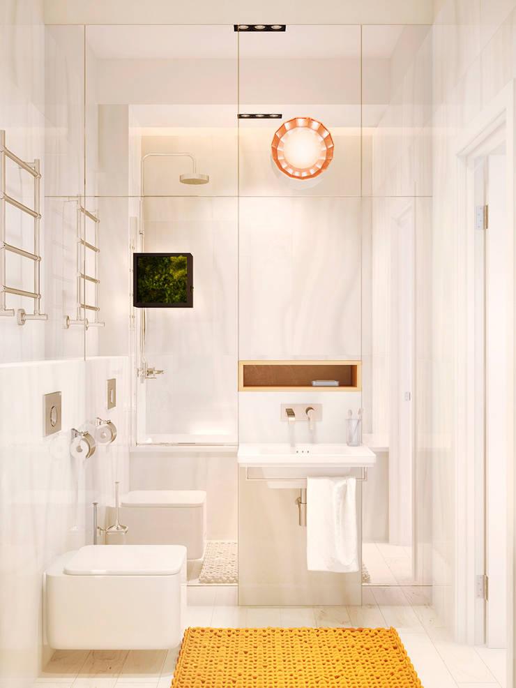 Дизайн интерьера объединенной квартиры в ЖК «Арабская ночь» (Алупка): Ванные комнаты в . Автор – ROMM