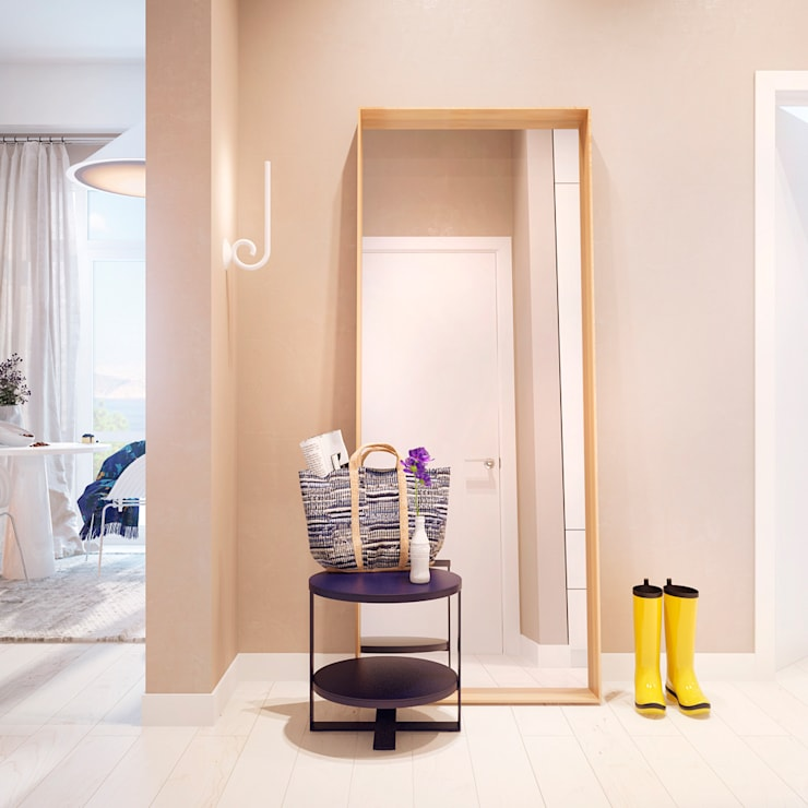 Дизайн интерьера объединенной квартиры в ЖК «Арабская ночь» (Алупка): Коридор и прихожая в . Автор – ROMM
