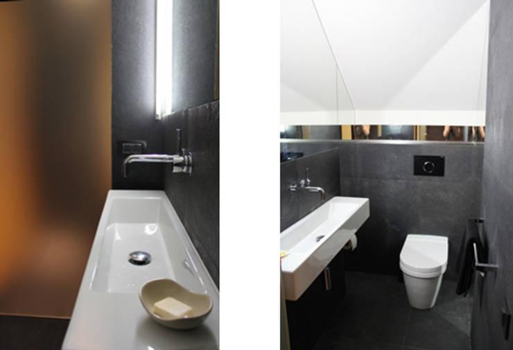Projekt  wnętrza domu w Krakowie: styl , w kategorii Łazienka zaprojektowany przez MK-ARCHITEKCI,