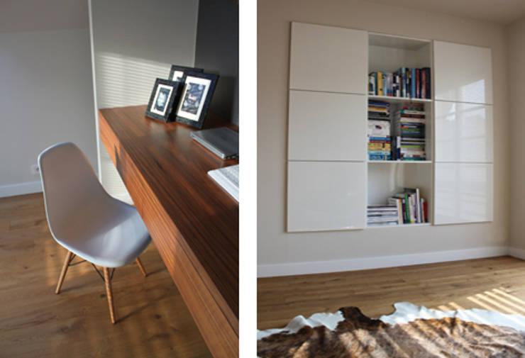 Projekt  wnętrza domu w Krakowie: styl , w kategorii Domowe biuro i gabinet zaprojektowany przez MK-ARCHITEKCI,