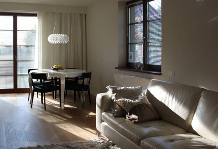 Projekt  wnętrza domu w Krakowie: styl , w kategorii Salon zaprojektowany przez MK-ARCHITEKCI,