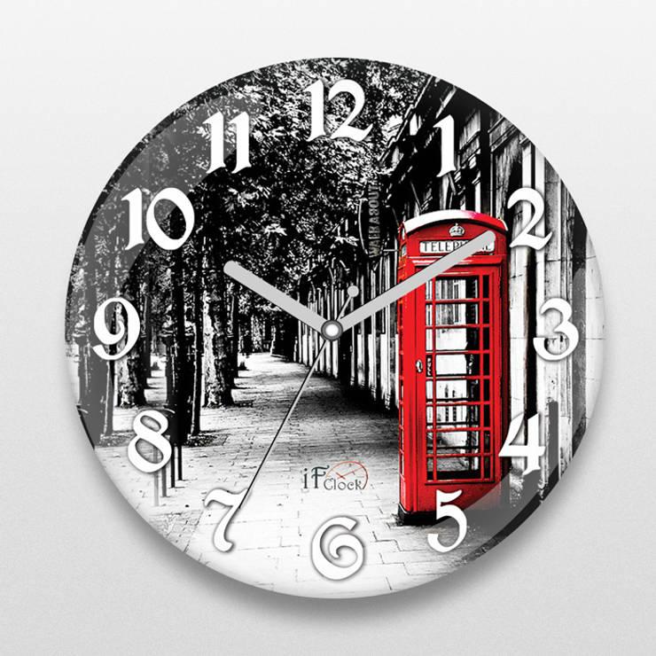 iF Dizayn Tasarım Ürünleri – iF Dizayn London Baskılı Duvar Saati:  tarz Ev İçi