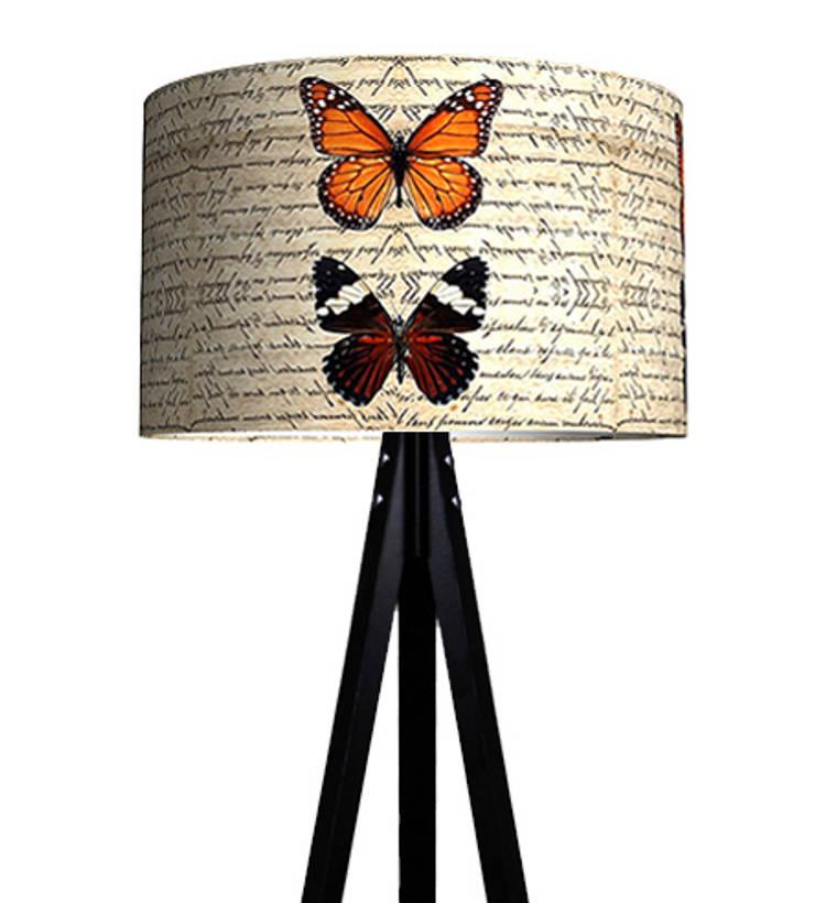 iF Dizayn Tasarım Ürünleri – iF Dizayn Vintage Kelebekler 3 Ayak Lambader:  tarz Ev İçi