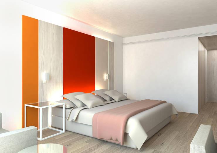 Hotel en México: Dormitorios de estilo minimalista de Suite 9