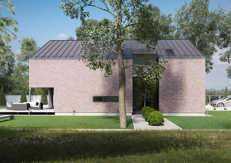 Dom jednorodzinny w Pszczynie: styl , w kategorii Domy zaprojektowany przez modero architekci