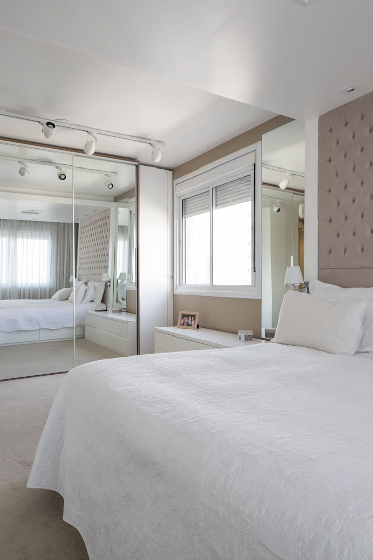 NRT   Dormitório Casal: Quartos  por Kali Arquitetura
