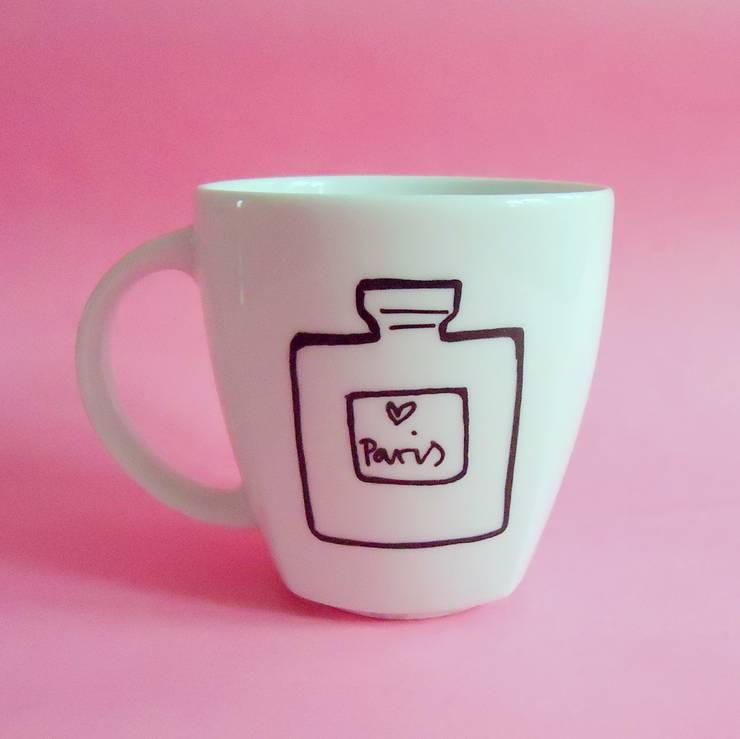 HAPPY PINK: styl , w kategorii Kuchnia zaprojektowany przez My Mug Company