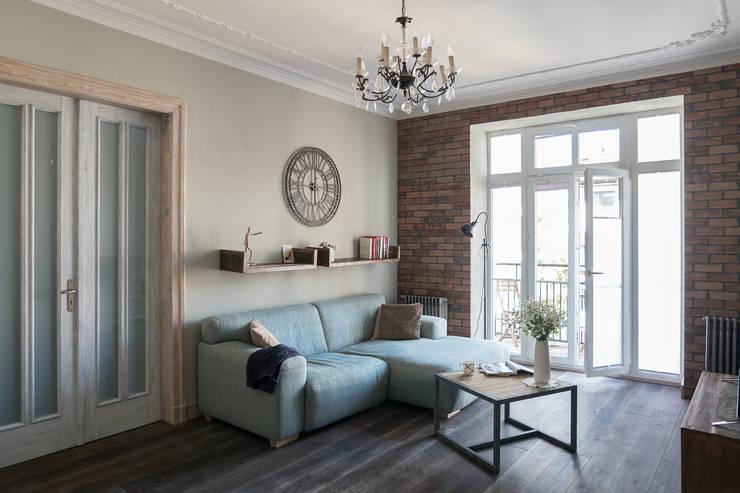 Apartament na Mokotowie: styl , w kategorii Salon zaprojektowany przez Jacek Tryc-wnętrza