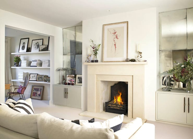 Living room, Richmond Place, London:  Living room by Concept Interior Design & Decoration Ltd