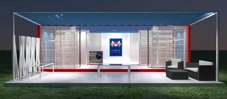 Fronte: Negozi & Locali commerciali in stile  di Studio Arch. Matteo Calvi