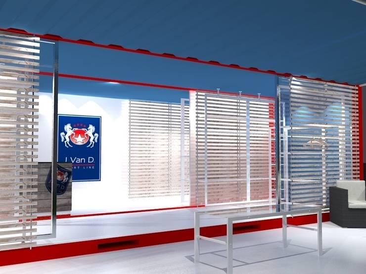 Vista interna 02: Negozi & Locali commerciali in stile  di Studio Arch. Matteo Calvi