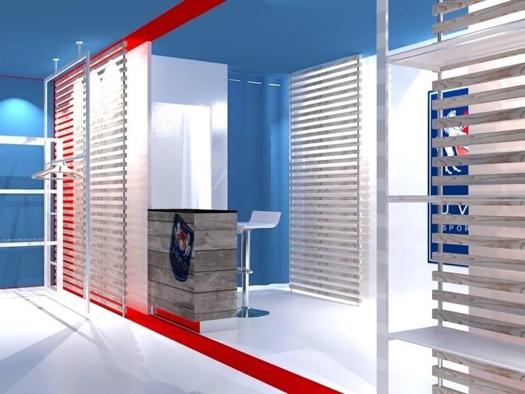 Vista interna 01: Negozi & Locali commerciali in stile  di Studio Arch. Matteo Calvi
