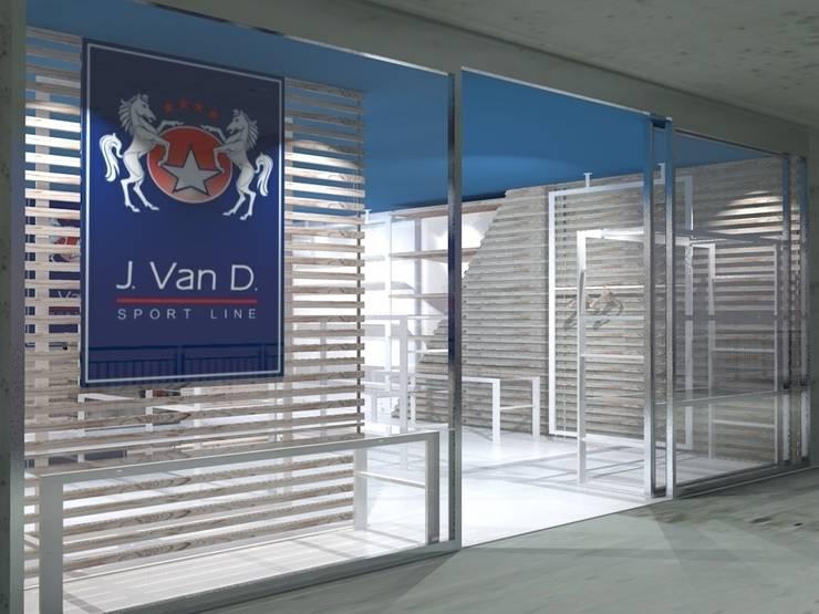 Kantoor- & winkelruimten door Studio Arch. Matteo Calvi