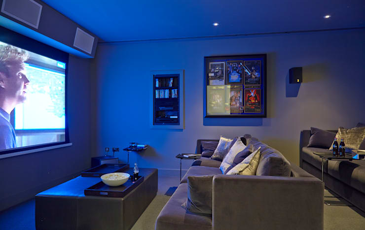 Home cinema, Highwood, Berkshire:  Media room by Concept Interior Design & Decoration Ltd