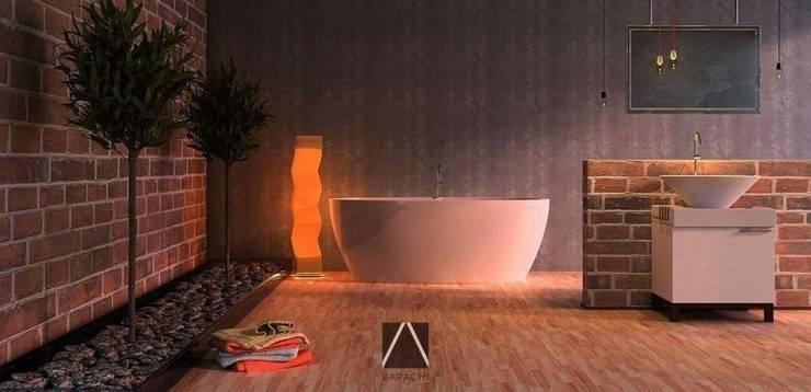 Обложка - дизайн ванной: Ванные комнаты в . Автор –  Дизайн-студия Bapachi