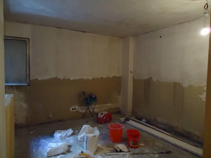 Aykuthall Architectural Interiors – Terasa Açılan Salon Eski Hali:  tarz