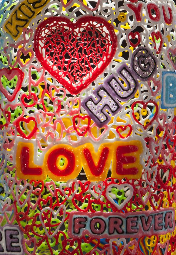 Love Words detail:  Kunst  door Studio Sebastiaan Straatsma