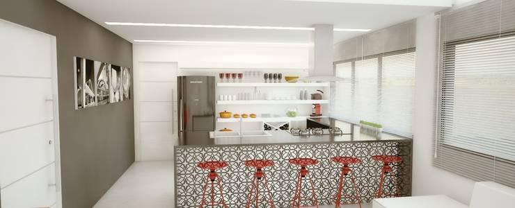 RESIDENCIA LP: Cozinhas minimalistas por Impelizieri Arquitetura