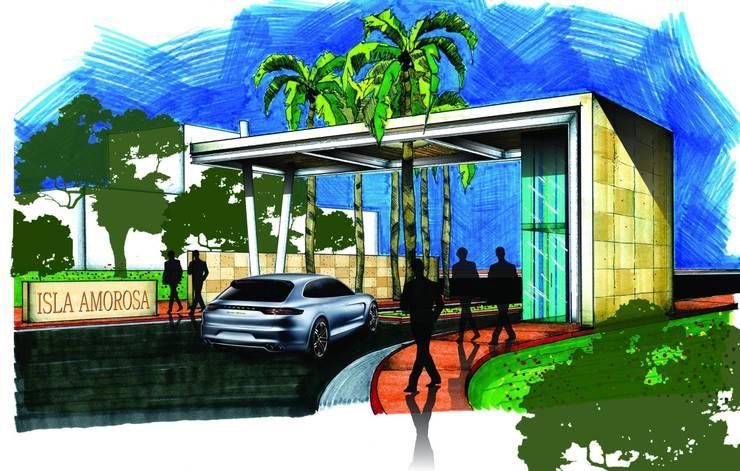 Motivo de Acceso: Casas de estilo  por VSA + ARQUITECTURA