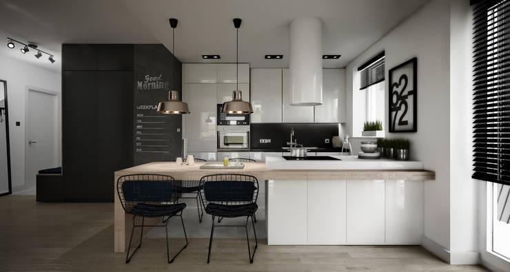 Kuchnia: styl , w kategorii Kuchnia zaprojektowany przez Wiktoria Ginter - architektura wnętrz