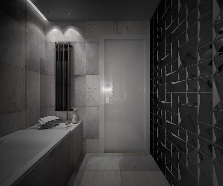 KAMION CROSS: styl , w kategorii Łazienka zaprojektowany przez Wiktoria Ginter - architektura wnętrz
