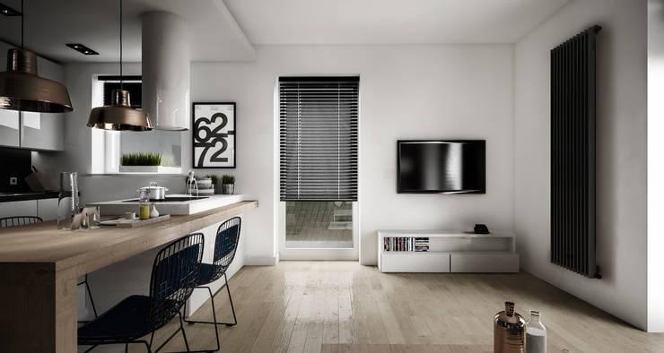 KAMION CROSS: styl , w kategorii Salon zaprojektowany przez Wiktoria Ginter - architektura wnętrz