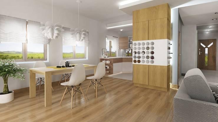 Nowoczesny dom jednorodzinny: styl , w kategorii Jadalnia zaprojektowany przez D2 Studio,Nowoczesny