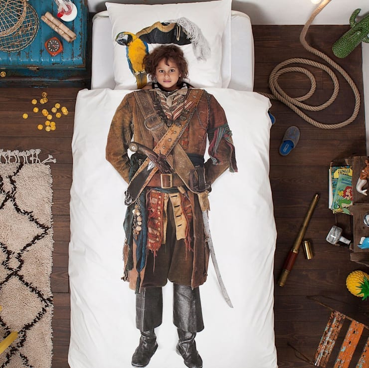 Pościel Pirat/Piratka: styl , w kategorii Pokój dziecięcy zaprojektowany przez lifestory :: życie jest piękne