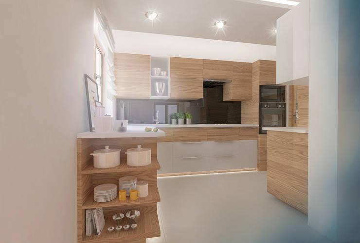 Nowoczesny dom jednorodzinny: styl , w kategorii Kuchnia zaprojektowany przez D2 Studio,Nowoczesny
