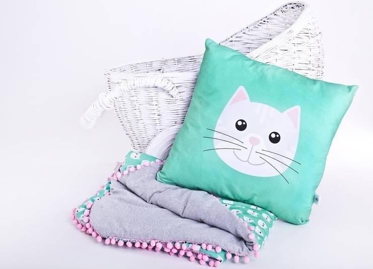 Kotek szary z poduchą : styl , w kategorii Pokój dziecięcy zaprojektowany przez Ma Zo Kreacja