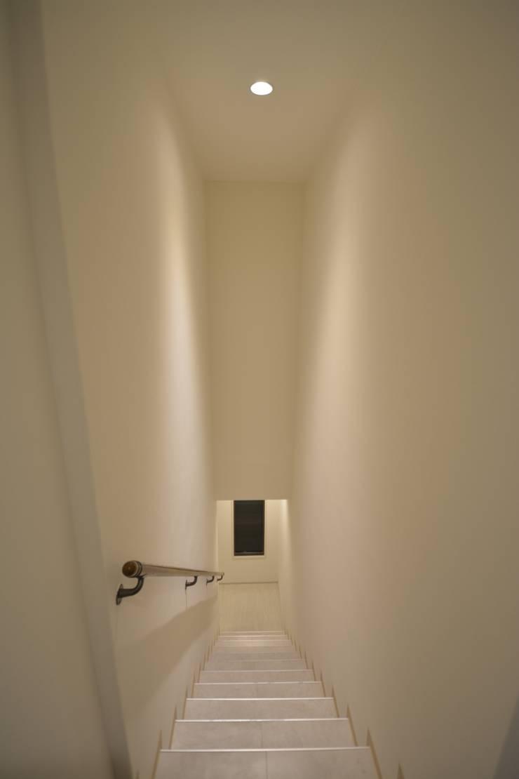 アフター写真階段: 依田英和建築設計舎が手掛けたです。