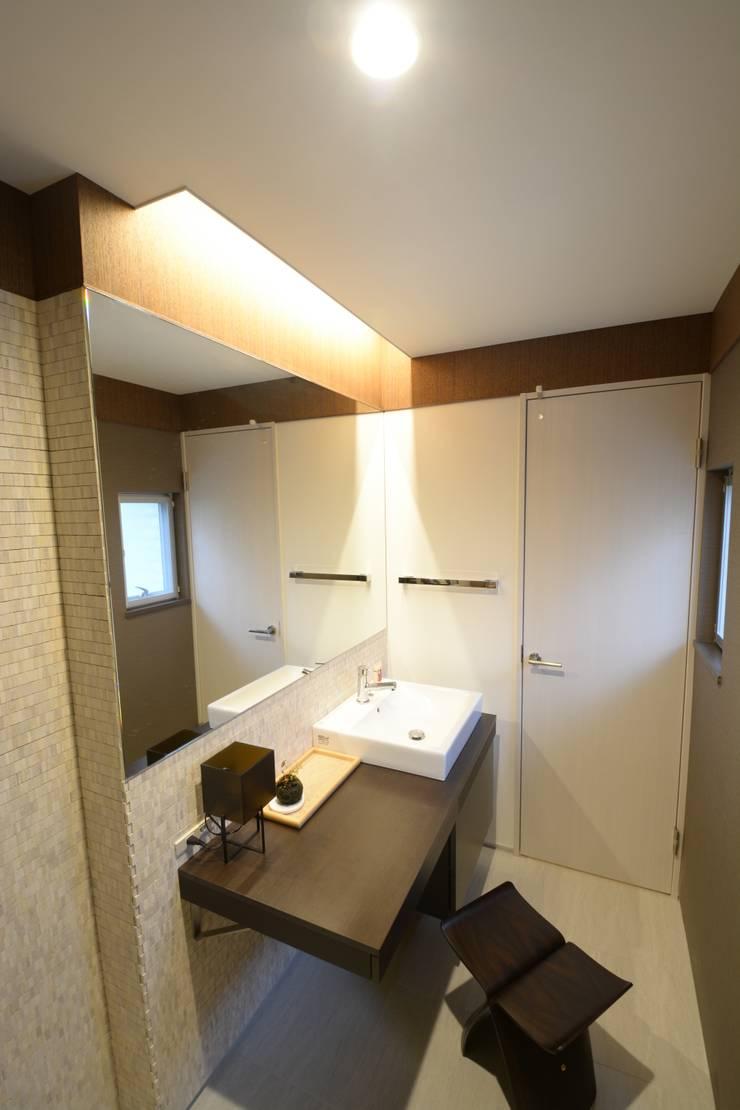 アフター写真2階パウダールーム: 依田英和建築設計舎が手掛けたです。