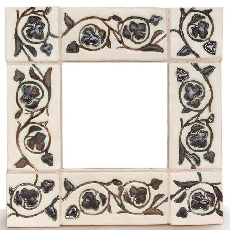 Kafelki na ramę lustra - Roślinny Ornament: styl , w kategorii Ściany i podłogi zaprojektowany przez Dekory Nati