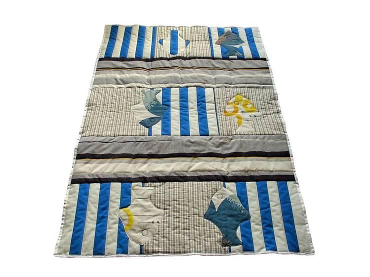Narzuta w ryby.: styl , w kategorii Pokój dziecięcy zaprojektowany przez Projekty Anna Nalikowska