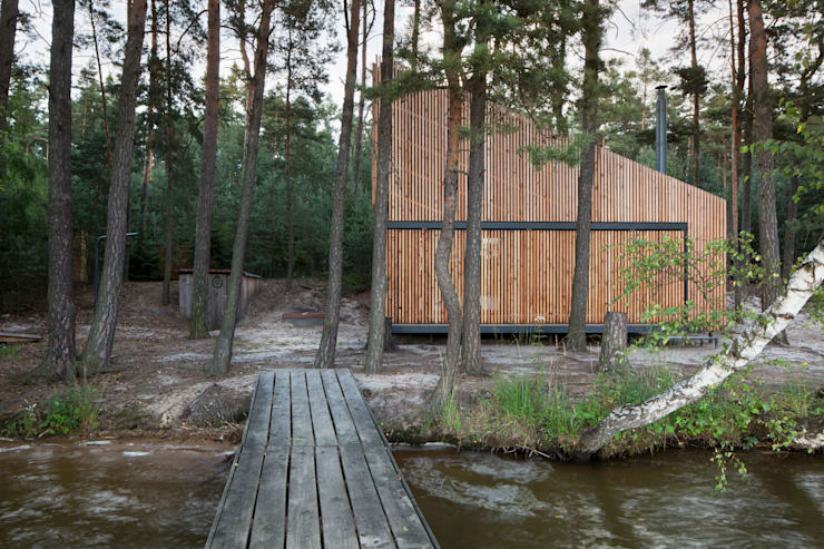 Lake Cabin:  Houses by FAM Architekti