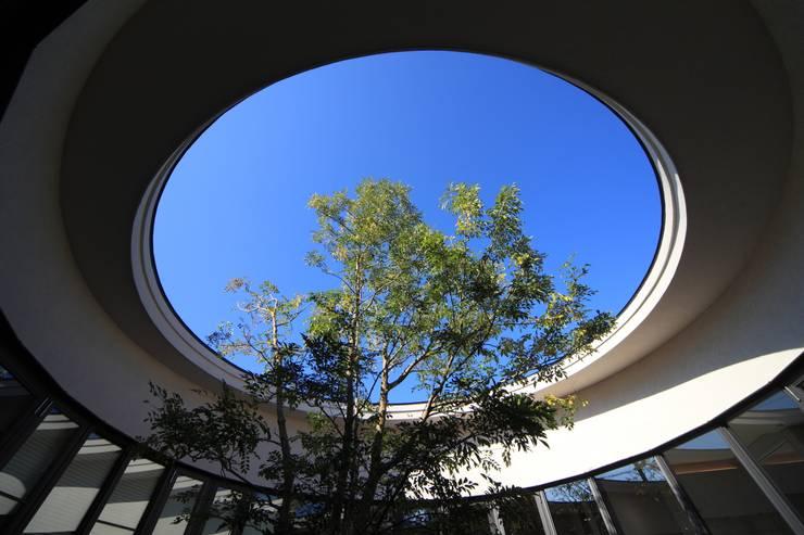 円形の中庭: MA設計室が手掛けた庭です。