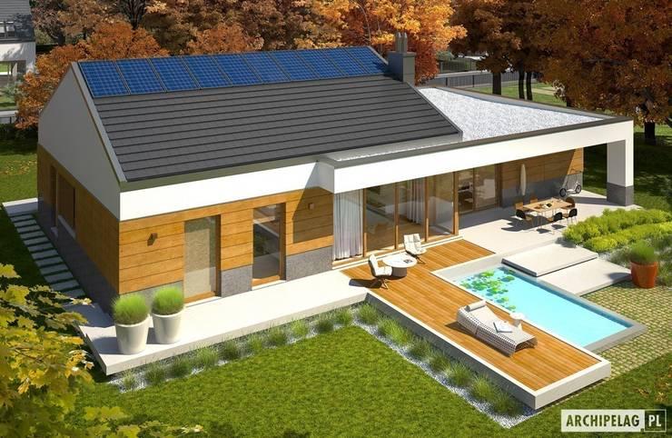 Projekt domu EX 11 G2 (wersja D) : styl , w kategorii Domy zaprojektowany przez Pracownia Projektowa ARCHIPELAG