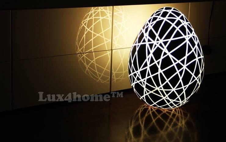 Lampy dekoracyjne: styl , w kategorii Sypialnia zaprojektowany przez Lux4home™