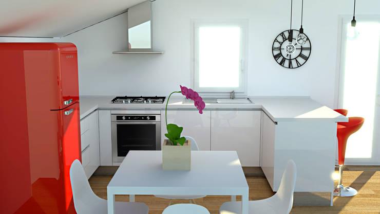 Cucina in mansarda: Cucina in stile  di OGARREDO