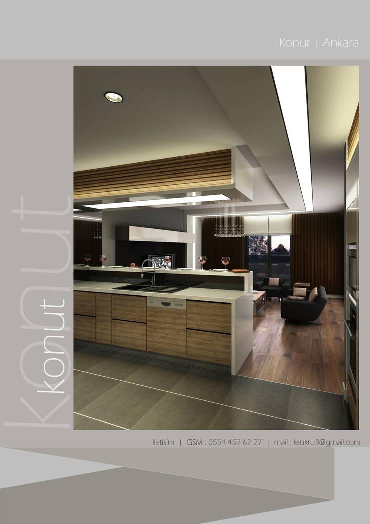 2F TASARIM İÇ MİMARLIK – 2F Tasarım:  tarz Oturma Odası