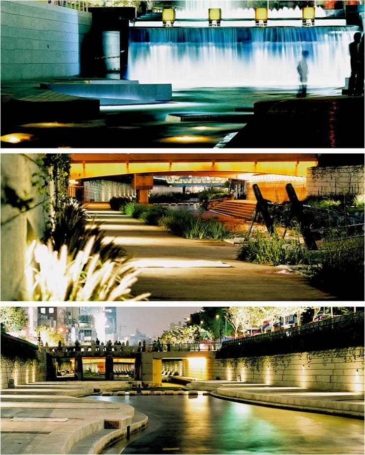 Unique and Various Landscape of CheongGye Plaza: Seo Ahn R&D Design Group의  정원