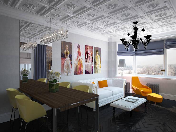 Гостиная: Гостиная в . Автор – Krupp Interiors,