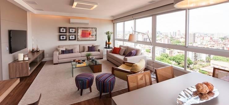 Estar: Salas de estar  por AND Arquitetura,Moderno
