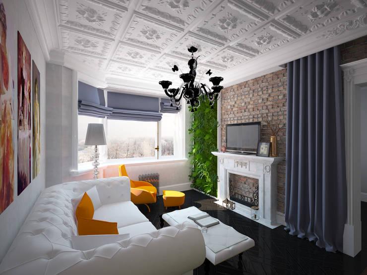 eclectische Woonkamer door Krupp Interiors