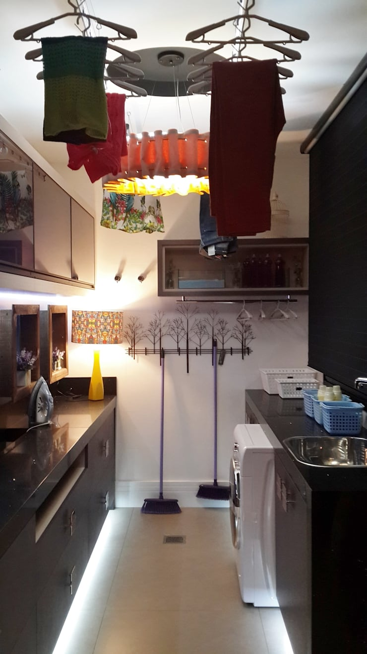 Área de serviço/Lavanderia: Cozinhas  por Ésse Arquitetura e Interiores