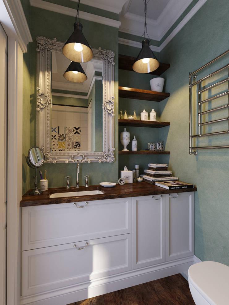 Квартира-студия в стиле лофт в центре Москвы: Ванные комнаты в . Автор – Aiya Design