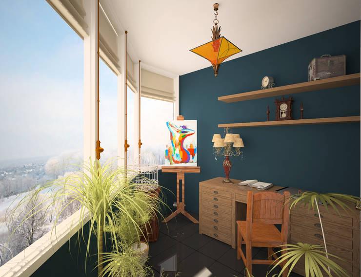 Лоджия: Tерраса в . Автор – Krupp Interiors,
