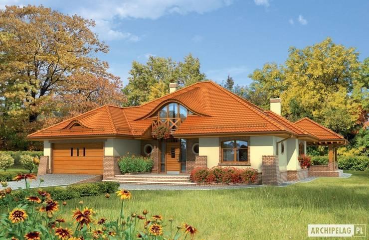 Projekt domu Seweryna G2 : styl , w kategorii Domy zaprojektowany przez Pracownia Projektowa ARCHIPELAG,