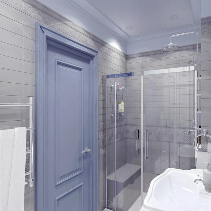 Давыдковская, Москва: Ванные комнаты в . Автор – Massimos / cтудия дизайна интерьера, Классический