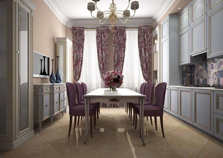 Дизайн проект квартиры в стиле эклектика: Кухни в . Автор – Альбина Романова